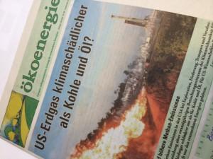 Titelblatt der Ökoenergie vom September 2014